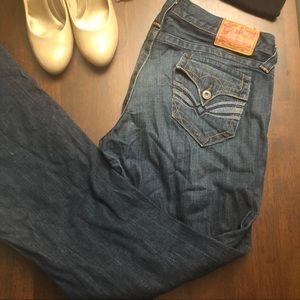Lucky Brand Wide Leg Denim Jeans